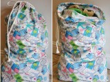 simple cotton laundry bag