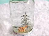 Simple Diy Mason Jar Snowglobes