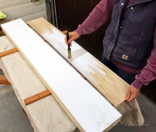 DIY Modern Floating Shelf With A Storage Space Inside