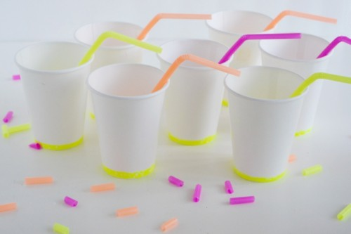 personalized plastic cups (via sparkandchemistry)