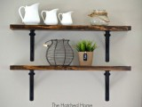 easiest open shelving