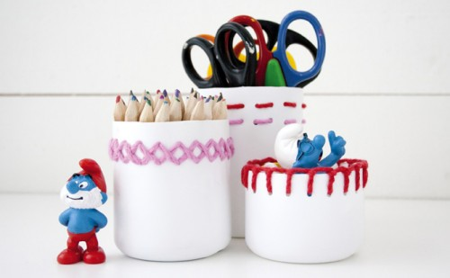 DIY embroidered pencil holder (via pysselbolaget)