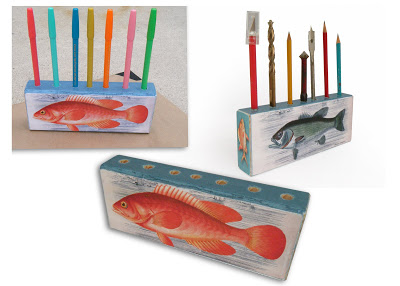 fish candle holder