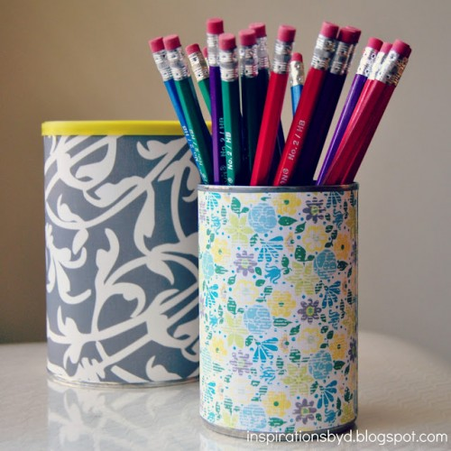DIY bean can pencil holder (via inspirationsbyd)
