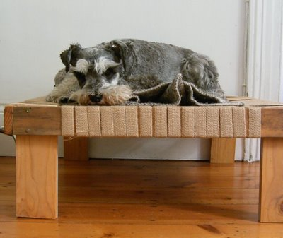 raised dog bed (via jezzeblog)