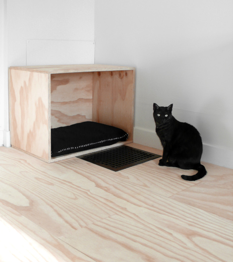 box cat bed
