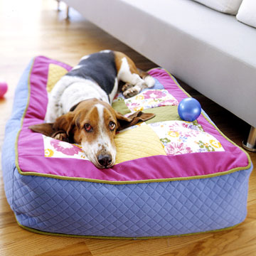 dog wrap pillow (via bhg)