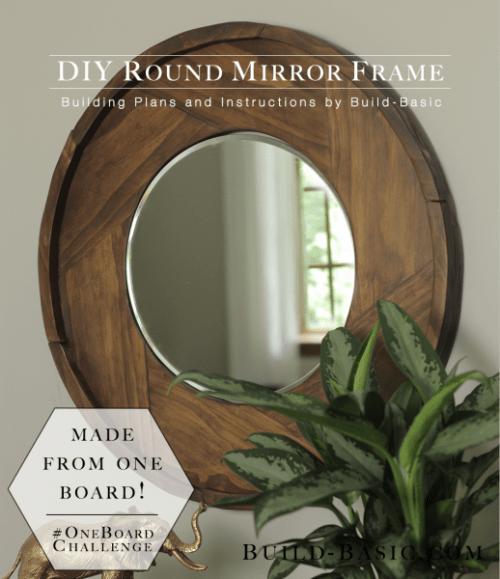 Simple DIY Round Wood Mirror Frame