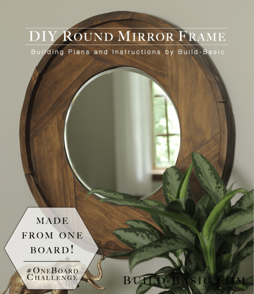 Picture Of simple diy round wood mirror frame  1