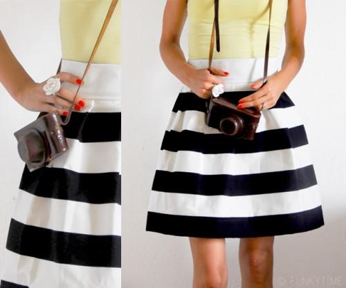 racing stripes skirt (via fun)