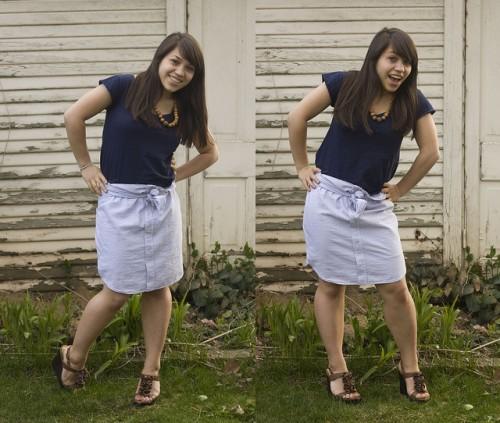 old shirt skirt (via makebakeandtake)