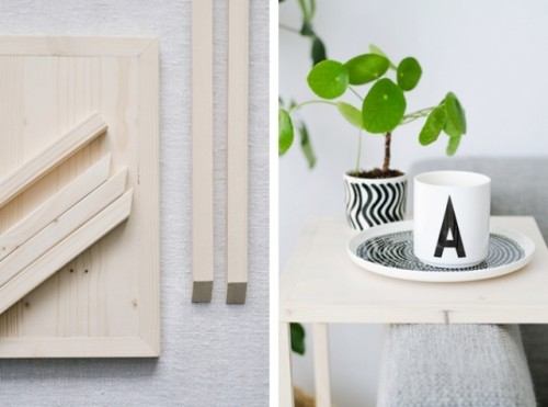 Simple DIY Sofa Caddie From Wooden Planks