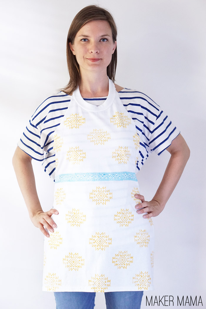 Picture Of simple diy stamped t shirt apron  1