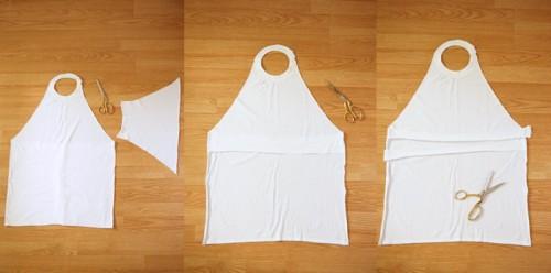 Simple DIY Stamped T Shirt Apron