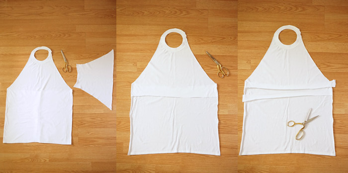 Picture Of simple diy stamped t shirt apron  2