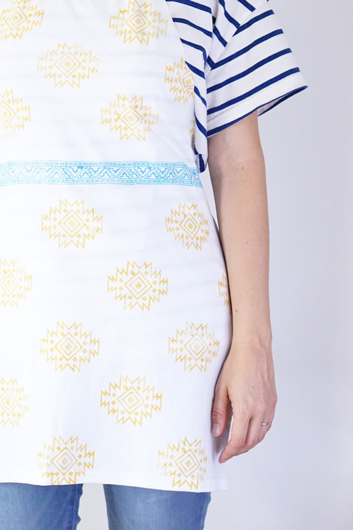 Picture Of simple diy stamped t shirt apron  6