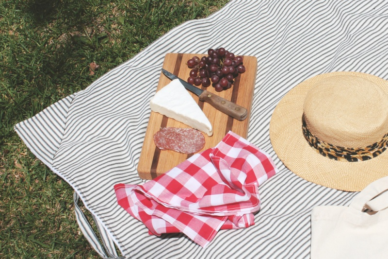 Picture Of simple diy striped picnic blanket  2