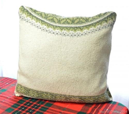 Simple DIY Sweater Throw Pillows