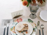 perfect table setting with a candle box