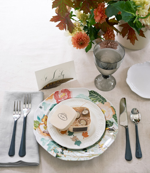 perfect table setting with a candle box (via countryliving)