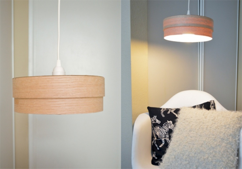 How to make a diy wood veneer pendant lamp curbly this aloadofball Image collections