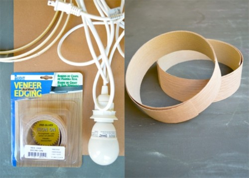Simple Diy Veneer Pendant Lamp