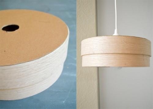 Simple Diy Veneer Pendant Lamp Shelterness