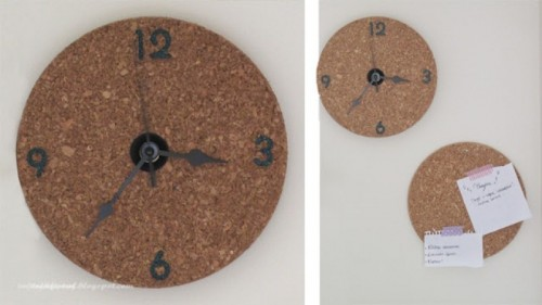Simple DIY Cork Wall Clock