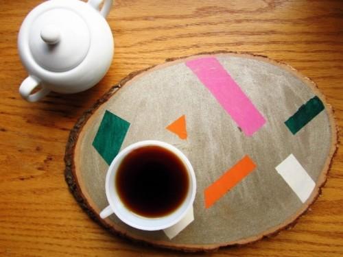 Simple Diy Wood Slice Tray