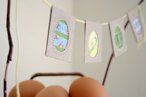 upcycled eggs bunting (via flaxandtwine)