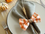 plaid bow napkin rings
