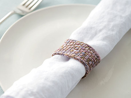 elegant knit napkin rings (via https:)