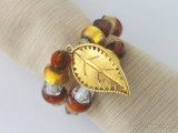 leaf charms napkin rings
