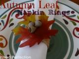autumn leaves napkin rings