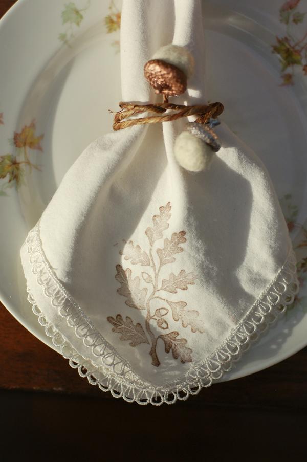 felt acorn napkin rings