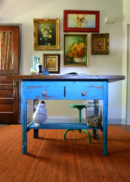 bench into a kitchen island