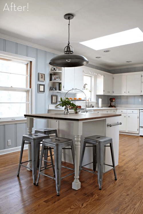 kitchen island makeover (via curbly)