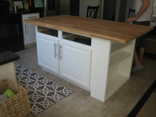 kitchen island upgrade (via housetweaking)
