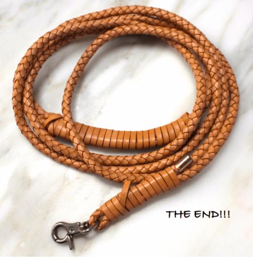 braided leather leash (via sketch42blog)