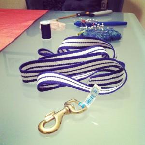 woven canvas leash