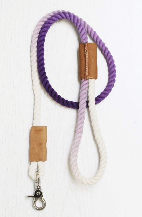 ombre rope leash (via curbly)