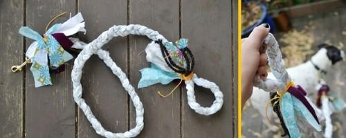 fabric braided leash (via 11eureka)