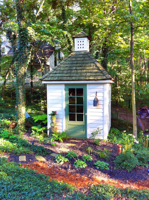 Small And Colorful Potting Shed