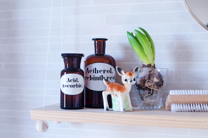 Picture Of small diy hanging bathroom shelf  7
