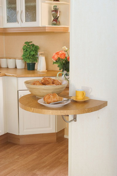 Http Www Shelterness Com 10 Ideas To Use Small Folding Tables On A Kitchen
