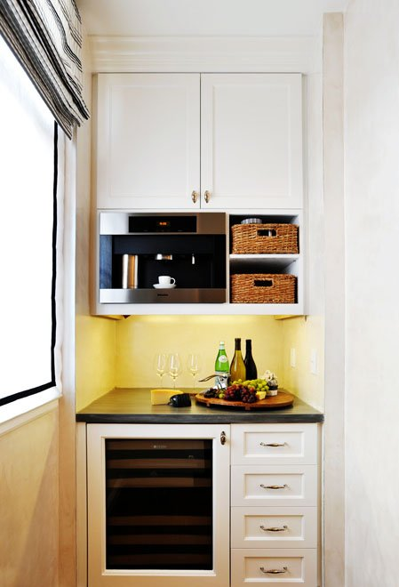 Even tiniest niches could feature a kitchen corner.