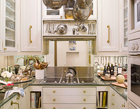 Extremely Compact Kitchen Design Which Features Lots Of Cooking Stuff And  Smart Overhead Pan And Pots Part 85