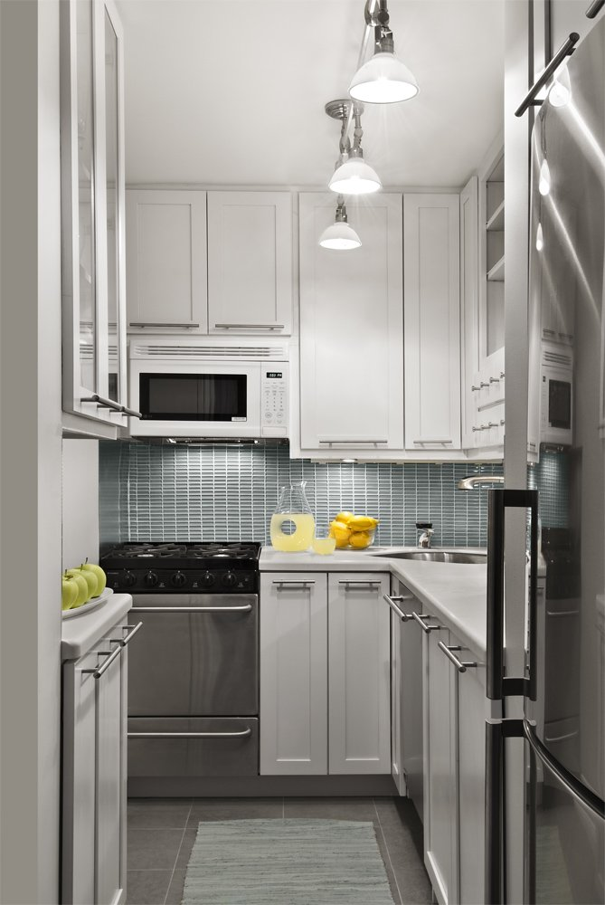 Super Narrow Kitchen That Provide Enough Storage Space