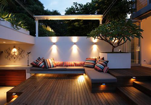 clever lighting is very important for a small backyard - Small Yard Design Ideas