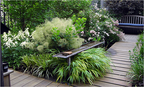 55 small urban garden design ideas and pictures shelterness for Small garden designs nz